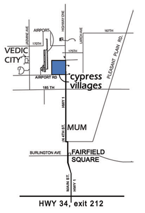 Map of Cypress Villages from Fairfield Iowa